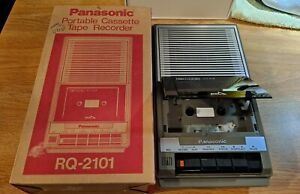 WORKING Panasonic RQ-2101 Portable Cassette Tape Recorder Player Original Box