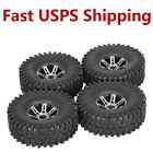 """4Pcs 1.9"""" 120mm 1/10 Rock Crawler Tires w Alloy Beadlock Rim for SCX10 AXIAL TF2"""