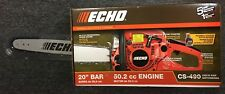 NEW ECHO CS 490 20 in. 50.2cc Gas Chainsaw 2-stroke engine Vibration reduction