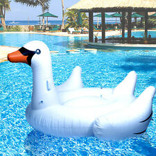 "HUGE 75"" Inflatable Rideable Swan Inflatable Float Toy Pool Giant Swan Float WH"