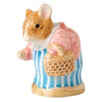 PETER RABBIT Beatrix Potter COLLECTIBLE Mrs Tittlemouse Figurine UK SELLER