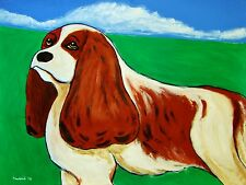 CAVALIER KING CHARLES SPANIEL PRINT poster man cave toy dog