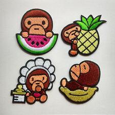 Baby Milo Orangutan fruit watermelon pineapple Embroidered Iron On Patch K277280