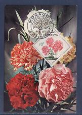 MONACO   carte  1er jour   fleurs  10f   1959