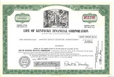LIFE OF KENTUCKY FINANCIAL CORPORATION.....1971 STOCK CERTIFICATES