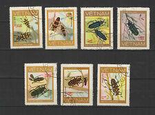 coléoptères 1977 Viêt Nam une série de 7 timbres / T1681
