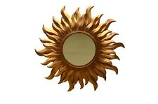 Metal Sunburst Big Copper Antique Rustic Home Wall Decor Art Craft Mirror Works