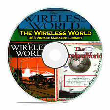 The Wireless World, 363 Classic Old Time Radio OTR Magazine Collection DVD B86
