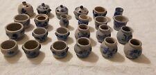 24 Vintage German Cobalt Blue Salt Glazed Pottery Stoneware Westerwald