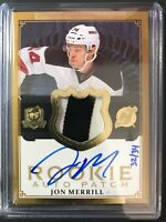 2013-14 The Cup Jon Merrill GOLD Rainbow Rookie Patch Auto Devils /34
