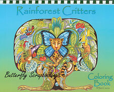 Coloring Book RAINFOREST Criters Animal Spirits 15 Page EARTH ART Sue Coccia New