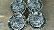 "Plymouth Barracuda Valiant Mopar13"" 5 lug Cragar Chrome Wire Basket Wheels"