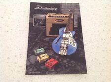 DUESENBERG GUITAR OFFICIAL POST CARD BASS GUITAR ELECTRIC ACOUSTIC MUSIC MATON