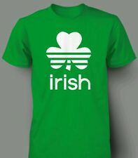 St. Patricks Day t shirt Irish adidas stripe green