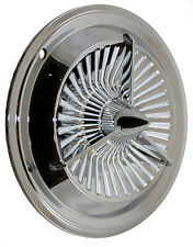 "15"" POLARA TRI BAR JET TURBINE FAN style hub cap (4 ) Custom Bomber Lead Sled"