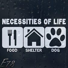 Funny nécessités de la vie alimentaire abri voiture chien ou ordinateur portable Decal Vinyle Autocollant