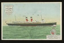 Midland Railway Co Steamer DONEGAL Official 1908 PPC