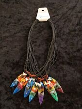 FREE POSTAGE SALE BROWN BEADS DOLPHIN SUNSET PALM TREE SURFBOARD SHARK TOOTH