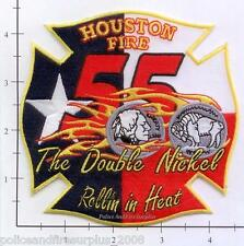 Texas - Houston Station 55 TX Fire Dept Patch v2  Maltese - The Double Nickel