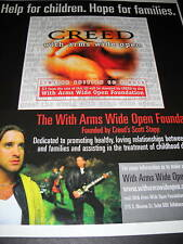 Creed With Arms Wide Open 2000 Promo Poster Ad mint con