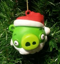KURT S. ADLER ANGRY BIRDS™ GREEN KING PIG BALL w/ SANTA HAT CHRISTMAS ORNAMENT