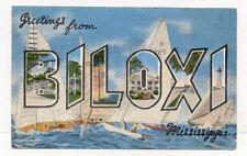 1950'S BILOXI MS MISS LARGE LETTERS POSTCARD PC3662