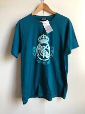 Real Madrid Fc Men's Official Club Logo T-Shirt - Large - Blue - New