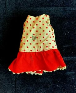 Vintage 1960's Mattel Buffy Doll Original Dress Tutti Size Red White Polka Dot