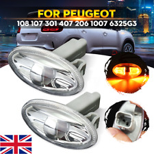2x Side Indicator Repeater Light For Peugeot 108 107 206 1007 407 Partner 6325G3