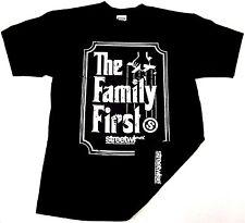 STREETWISE FAMILY FIRST T-shirt Urban Streetwear Tee Adult Men's Black NWT