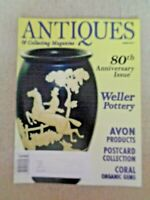 Antiques & Collecting Magazine March 2011 Weller Pottery Avon Postacards Coral