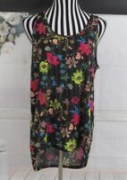 H&M Conscious Tank Top High Low Floral Top Size L