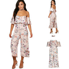 af54966e1d Sexy Womens Holiday Frill Off Shoulder Jumpsuit Ladies Party Playsuit Petite