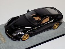 1/18 MR Collection Ferrari F12 Berlinetta Gloss Black Custom Gold Wheels