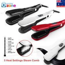 Professional Steam Hair Straightener Brush Infusion Straightening Brush Comb