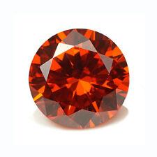 6.50 Cts 10 MM Orange Cubic Zirconia Round loose gemstone