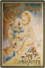 Hannoversche Cakes Fabrik H. Bahlsen Blechschild geprägt 20 x 30 cm #