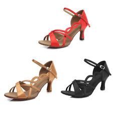 Satin Dance Shoes Latin Ballroom Shoes Women High Heel Girls Dance Shoes