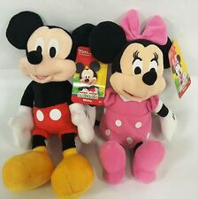 "New Disney Mickey Mouse & Minnie Mouse 11 "" Plush Doll - Stuffed Toy set NWT"