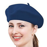 New Solid Warm Wool Winter Women Girl Beret French Artist Beanie Hat Ski Cap