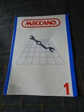 VINTAGE MECCANO BOOKLETS 1, 2, 3 and 4 Set