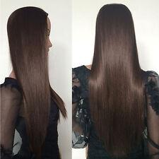 25'' Brown Blonde Fall Curly Wavy Half Wig 3/4 Full Head Clip In Women Hair Wigs