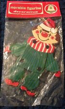Vintage Cardboard Jointed Clown Christmas Ornament Sealed Commodore