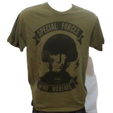 Men's Med Arquebus Tee Shirt. Special Forces Mind Warfare Logo. Color Army Green