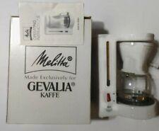 Melitta Gevalia Kaffe 4-Cup Coffee Maker  BCM-4C WHITE EUC #1209