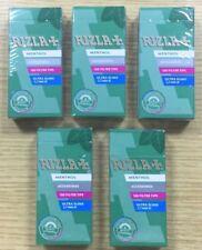 5 x RIZLA MENTHOL ULTRA SLIM FILTER TIPS 5.7mm CIGARETTE TOBACCO TIP SEALED UK