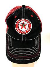 Texaco Gasoline Motor Oil Trucker Mesh Hat Cap Adjustable Snapback Red Star