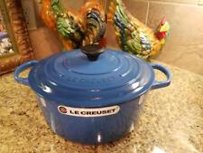 Le Creuset SIGNATURE Cast Iron ROUND Dutch Oven 7.25 (7 1/4 Qt) ~ MARSEILLE