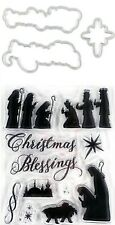 Religious Christmas Blessings Nativity Clear Stamp Die Set Recollections 564160