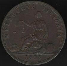 More details for 1858 australia melbourne victoria peace & plenty one penny token|pennies2pounds